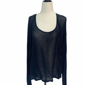 Brandy Melville Sweater Navy Blue Open Weave O/S